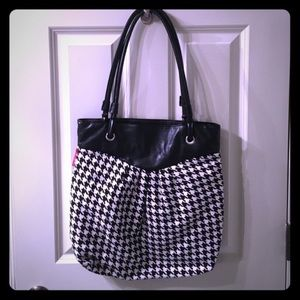 Houndstooth Tote Bag